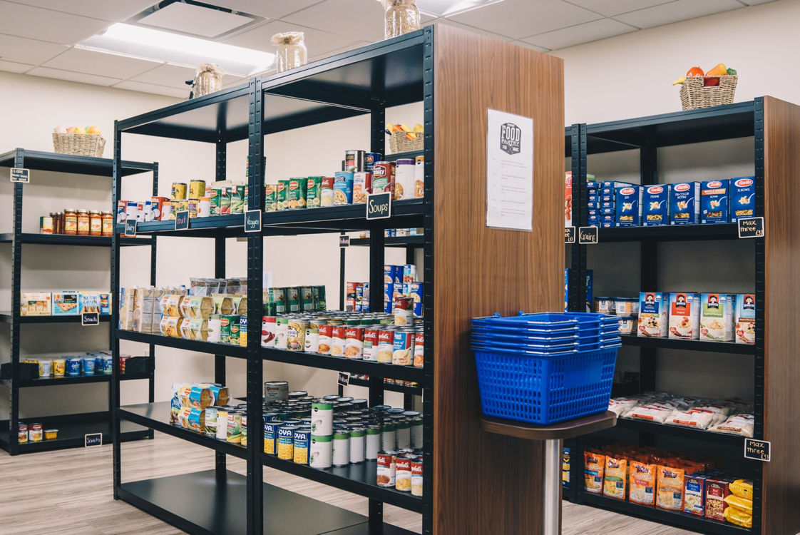 Inside of the Student Food Pantry